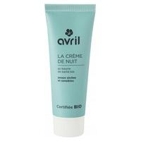 Crème de nuit peaux sèches et sensibles - certifié bio