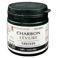 Carbo'activ charcoal yeast in marine capsules