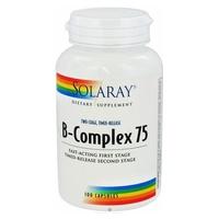 B Complex 75 (Acción Retardada) 100 cápsulas de Solaray - Kal
