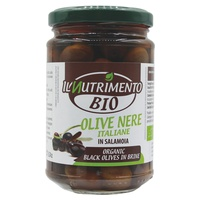 Italian Black Pitted Olives in Brine