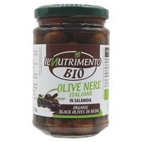 Olives noires italiennes dénoyautées en saumure
