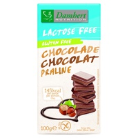 Tableta de chocolate praliné sin lactosa