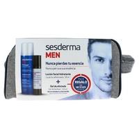 Sesderma Man Pack Lozione viso idratante + gel da barba regalo e borsa da toilette
