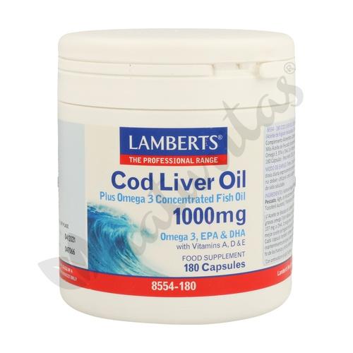 Aceite de Higado de Bacalao 180 cápsulas de Lamberts