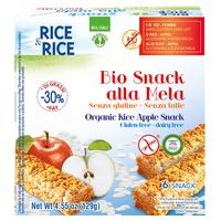 Petisco de arroz de maçã