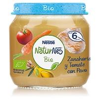 Nestlé Naturnes BIO Puré Zanahoria y Tomate con Pavo 6m+