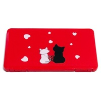 Rectangular Red Kitten Mask Storage Box