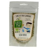 Organiczne zielone nasiona soi do kiełkowania