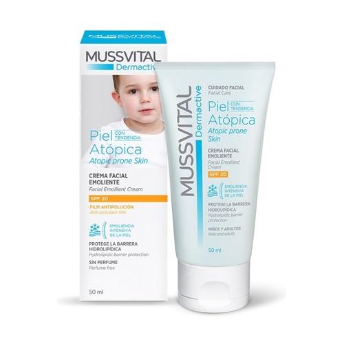 Dermactive Crema facial emoliente piel atópica SPF20