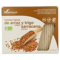 Tostadas ligeras de arroz integral y trigo sarraceno