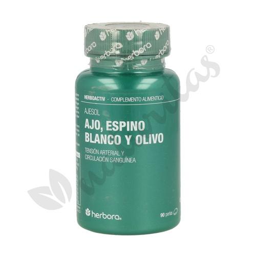 Ajesol (Ajo, Espino Blanco, Olivo) 90 perlas de Herbora