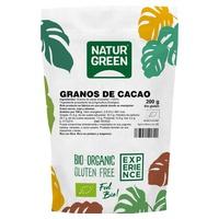 Organiczne posiekane ziarna kakaowe
