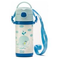 Blaue Säuglings-Thermo-Bbo-Flasche