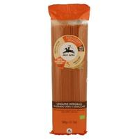 Whole durum wheat and lentils linguine