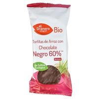 Tortitas de arroz con chocolate negro 60%