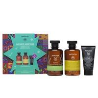 Mountain Tea Bath Gel with essential oils + Gentle daily use shampoo + Black Detox cleansing gel pack