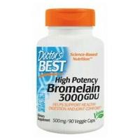 Bromelina de alta potencia 3000 GDU 500 mg
