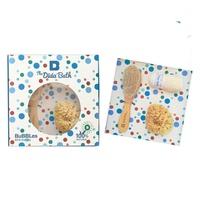 Pack Baño Bubbles (Esponja Natural, Cepillo de Madera, Toallita de Algodón Orgánico)