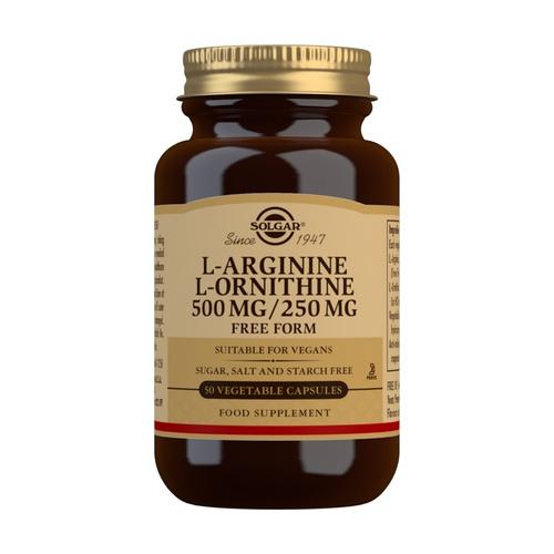 L-Arginina y L-Ornitina 500/250