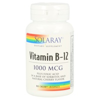 Solaray Vitamin B-12 plus Folic Acid