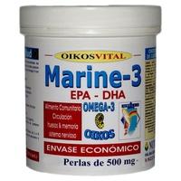 Marine-3 Omega 3 180 perlas de 500 mg de Oikos