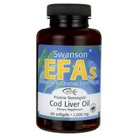 Olio di fegato di merluzzo norvegese incontaminato, 1000 mg