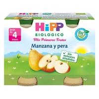 Organiczne słoiki z jabłkami i gruszkami