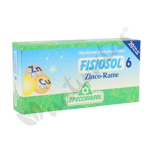 Fisiosol 6 Zinc-Cobre