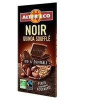 Chocolate negro con quinoa hinchada bio