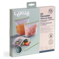 Kit 3 sacs en silicone réutilisables