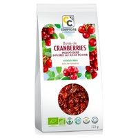 Organic cranberries infused with apple juice