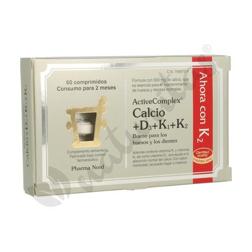 Activecomplex Calcio D3+K1+K2 60 comprimidos de Pharma Nord