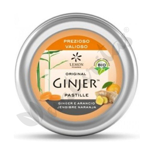 Pastillas de Jengibre y Naranja Bio 40 gr de Lemon Pharma