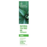 Dentífrico de árbol de té con sabor a hinojo