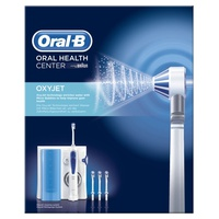 Oxyjet Irrigator - oral cleaning system with Braun technology with 4 Oxyjet heads