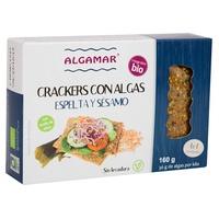 Crackers con Algas, Espelta y Sésamo Bio