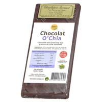 Chocolat noir O'Chia : 18% graines de chia bio