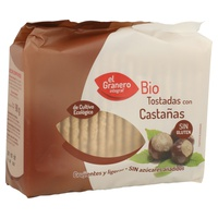 Tostadas de Castaña sin Gluten BIO 90 G de El Granero Integral