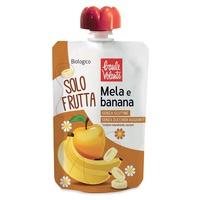 Sólo fruta, manzana y plátano