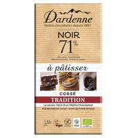 Tableta de chocolate negro 71% de tradición culinaria