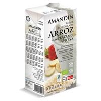Bebida de Arroz com Banana e Morango