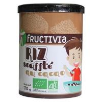 Granos de arroz inflado de chocolate orgánico