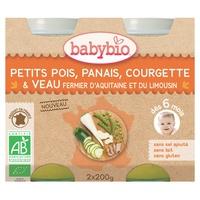Petits pois, panais, courgette & veau fermier d'Aquitaine