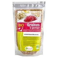 Semillas para germinar - Alfalfa, rábano y mostaza Bio