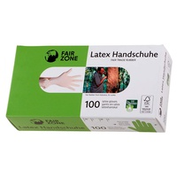 Disposable Natural Rubber Latex Gloves - Large