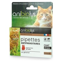Pipettes antiparasitaires chat