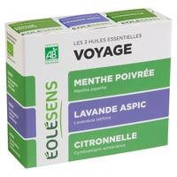 Trio Voyage: 3 huiles essentielles
