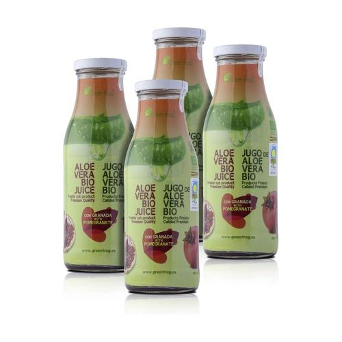 Pack x4 Zumo de Aloe Vera Bio con Granada