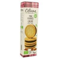 Mini galletas rellenas de cacao