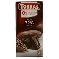 Chocolate Torras 72% Cacao sin azúcar